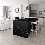 kitchen Island in Eternal Marquina quartz