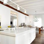 Kitchen Island in White Quartz 100mm profile